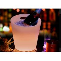 Wholesale Soft Drink Beer Wine Beverage Cooler Led Ice Bucket Two Colors Changing from china suppliers