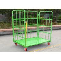 Wholesale Folding Stackable Wire Mesh Cage , Wire Mesh Container Roll Trolley For Transport from china suppliers