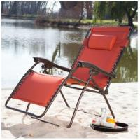 Wholesale Wide Padded Zero Gravity Lounge Chair Steel Patio Sling Furniture for beach from china suppliers