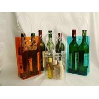 Buy cheap Portable PVC Plastic Bag Wine Ice Bag Vinyl ECO - Friendly Colorful from wholesalers