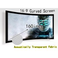 Wholesale 140 Curved Degree Digital Cinema HD Projection Screen For Theater Enthusiast from china suppliers
