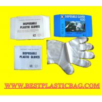 Buy cheap Clear and Blue HDPE Disposable Plastic PE Glove from wholesalers