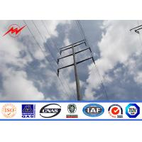 Wholesale Galvanized Electrical Steel Power Pole For 69 kv Power Distribution Line from china suppliers