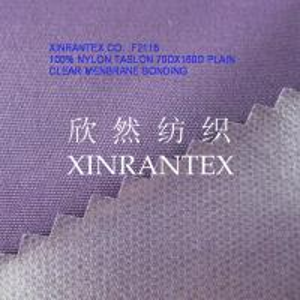 Buy cheap F2116 full dull 100%nylon taslon clear menbrane lamilation 70DX160D from wholesalers