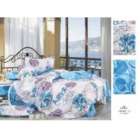 Wholesale Blue Floral Custom 100 % Cotton Bedroom Colorful Single Flat Bed Sheet Set from china suppliers