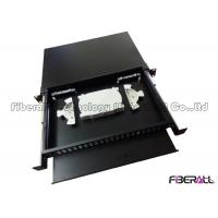Wholesale 48 Fibers Slide Out Fiber Patch Panel With Rails And Front Board To Bear Pigtail from china suppliers