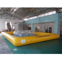 Wholesale Kids and Adult large inflatable swimming pools water sports games , yellow or blue from china suppliers