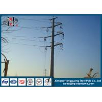 Wholesale 110KV Steel Tubular Pole , Double Circuit Transmission Line Electric Poles from china suppliers