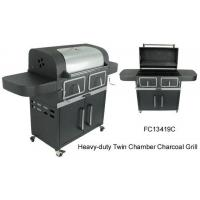 Buy cheap Heavy-duty Twin Chamber Charcoal Grill from wholesalers