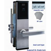hotel mgnetic card lock system, panel , handle and lockcase material is 304 stainless steel, fireproof Grade