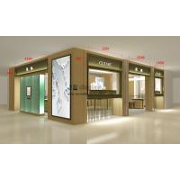Quality Concise design jewelry store interior fitout display 3D image by Stainless steel counters and showcase for sale