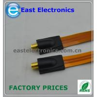 Buy cheap F female to F female flat coupler cable for RG6 RG-6 Flat Cable TV Coaxial Cable Coupler from wholesalers