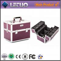Wholesale LT-MC3012 Classic Purple Croc Beauty Case  makeup cosmetic best makeup case from china suppliers