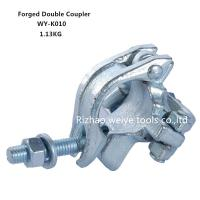 Wholesale BS1139 Drop forged double scaffold connectors UK types / Galvanized pipe fittings from china suppliers