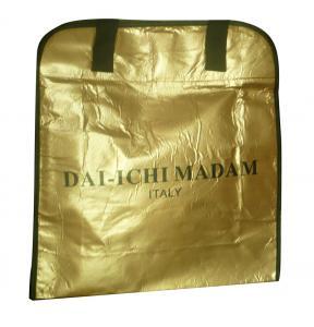 Quality DAI - ICHI MADAM 90g brozen lamination black webbing handy non woven carry bag for sale