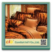 Wholesale Comfort Polyester Bedspreads Bedding Sheets , Patterned Bed Sheet For Home / Hotal / School from china suppliers
