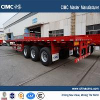 Wholesale tri-axle 40ft flatbed container semi trailer for sale from CIMC Vehicle from china suppliers