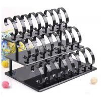 Wholesale Black Plexiglass Acrylic Watch Display Stand / Jewelry Holder Stand , 3 Tier from china suppliers