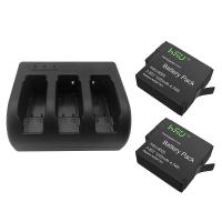 Wholesale GoPro Accessory Set 2 Pack 3.85 V GoPro Hero 5 Battery with Triple Charger Kit from china suppliers