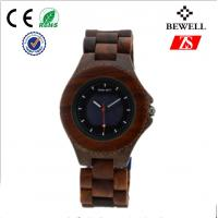Wholesale Red / Green Sandawood Wooden Wrist Watch With Solar Movement from china suppliers