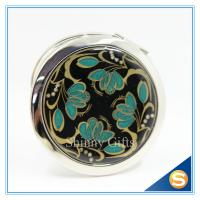 Quality Shinny Gifts Lady Metal Makeup Mirror Exquisite And Durable Compact Mirror for sale