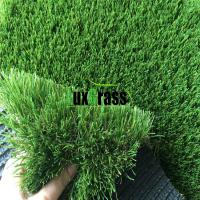 Quality V Shape Long Life Garden Artificial Grass 4 Color No Abrasion Garden Fake Grass for sale