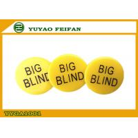 Wholesale Silk Printing Casino Poker Dealer Button Yellow Soild Color from china suppliers
