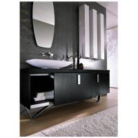 Wholesale Spring Well Black Geometry Stainless steel italy style bathroom cabinet , SW-1162 from china suppliers