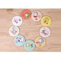 Wholesale Personalized Cartoon Engraved Pocket Mirror Handheld With Double Sides from china suppliers