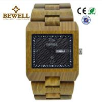 Wholesale 100% Natural Bamboo Wood Watch , Eco Friendly Wooden Mens Watch With Green Case from china suppliers