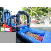 Wholesale Blue / Green Customized Inflatable Water Slide With Constant Blowing System from china suppliers