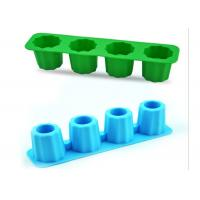 Wholesale Commercial Creative Flexible Silicone Ice Cup Mold With Four Holes from china suppliers