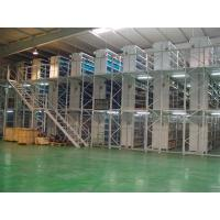 Wholesale customized 3 tier 150 - 500KG steel mezzanine floor for Auto parts industry from china suppliers