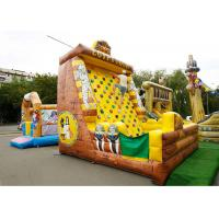 Buy cheap Inflatable Amusement Park With Cubic Golden Rock Climbing Wall , Printed Partern from wholesalers