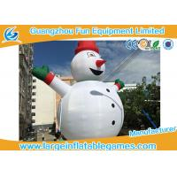 Wholesale Gian Inflatable Advertising Products , Inflatable Snowman Christmas Decorations For Xmas from china suppliers