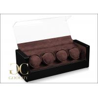 Wholesale Black Brown Christmas Gift Quad Winder Watch Box Automatic For Men / Women from china suppliers