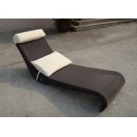 Wholesale All Weather Dark Brown Rattan Sun Lounger For Home Balcony from china suppliers