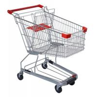 Wholesale 125 Litres Solid Metal Grocery Shopping Trolley Powder Plated With Tube Chassis from china suppliers