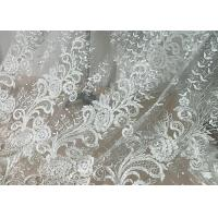 Wholesale Embroidered Floral Sequin Tulle Lace Fabric For Bridal Couture Polyester Nylon Material from china suppliers