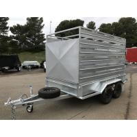 Wholesale 8 X 5 Galvanised Box Cattle Crate Trailer , Tandem Trailer With Stock Crate from china suppliers