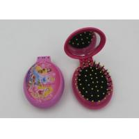 Wholesale Fashsion Oval Shape 2 In 1 Folding Travel Hair Brush With Mirror And Comb from china suppliers