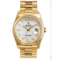 Wholesale Rolex Day Date Mother of Pearl Diamond Dial President Bracelet 18k Yellow Gold Mens Watch from china suppliers