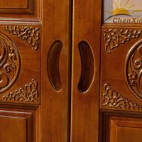 Quality Durable Vintage Shiny Solid Wood Wardrobe Closet For Bedroom 635MM Width for sale