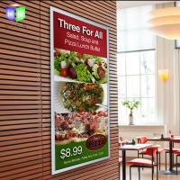 Wholesale Silver Acrylic Snap Frame Led Light Box With Menu Display , Restaurant Advertising from china suppliers