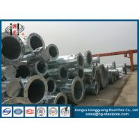Wholesale AWS D 1.1 Polygonal Electric Power Poles with Cross Arms for Overhead Project 30m Height from china suppliers
