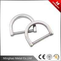 Wholesale OEM bag sliver d ring buckle , metal ring buckle for backpack from china suppliers