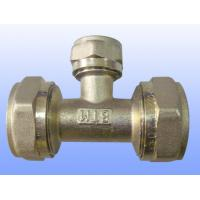 Wholesale compression brass fitting reduce tee for PEX-AL-PEX from china suppliers