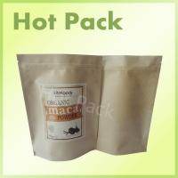 Wholesale Kraft Paper Stand Up Powder Packaging Bags , Aluminium Foil Zip Lock Bags from china suppliers