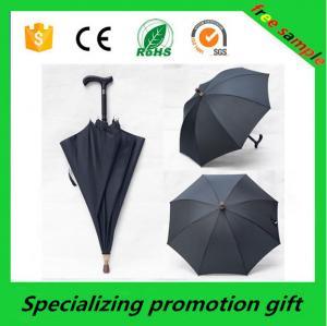 Wholesale Black Big Pongee / Nylon Custom Printed Umbrellas / Crutch Umbrella from china suppliers