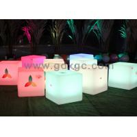 Wholesale Wireless Remote Control cube furniture stool LED cube chair change 16 colors from china suppliers